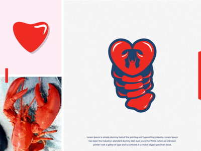 lovester premium quality dribbble nice logo quality premium restaurants restaurant seafood lobster love nice branding idea art brandidentity inspiration identity brand inspirations awesome design logo