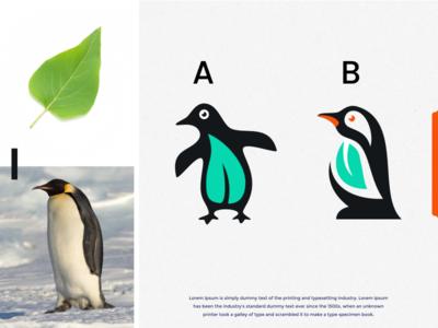 penguin leaf logo design logo design penguin logo lettering dualmeaning leaf penguins penguin forsale brand identity brandidentity inspiration identity brand inspirations awesome design logo