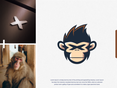 Xmonkey Logo design hidden hiddenlogo dualmeaning ideas letterx monkey idea art identity inspiration brand identity brandidentity brand inspirations awesome design logo