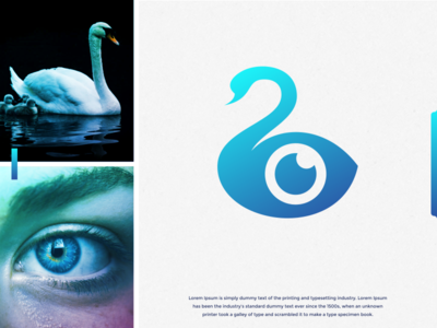 swansee logo inspirations artist gradient color gradient artwork eye see swan art forsale brand identity brandidentity inspiration identity brand inspirations awesome design logo