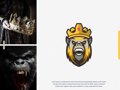 gorilla king logo design inspirations art combination dualmeaning brand design monkey kings king branding design gorilla branding forsale brand identity brandidentity inspiration identity brand inspirations awesome design logo
