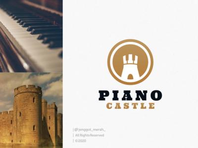 piano castle  logo design inspirations hidden meaning negative space castle logo castles art direction castle piano logo piano artwork idea art branding brand identity inspiration identity brand inspirations awesome design logo