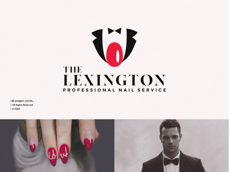 The Lexington Logo Idea professional logo professional salons nail art nail salon salonandspa salon nails service nail art branding brand identity inspiration identity brand inspirations awesome design logo