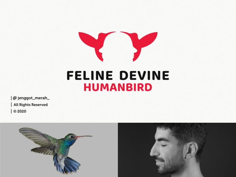 Feline Devine logo design dribbble animals fly branding design brand design face human bird homepage huming bird branding brand identity brandidentity inspiration identity brand inspirations awesome design logo