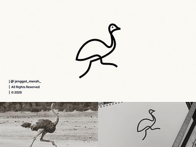 ostrich logo design line branding design excellent elegant lineart bird logo brand design bird ostrich branding art brand identity brandidentity inspiration identity brand inspirations awesome design logo
