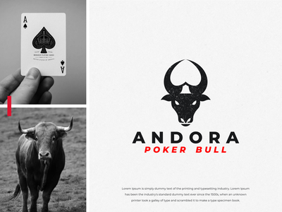 Bull Poker Negative Space Logo Design negative space mark toro horn taurus ace poker logo design awesome inspirations brand identity inspiration brandidentity brand identity branding bull dual meaning animal