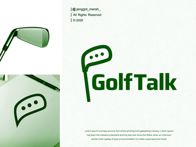golf talk  logo design inspirations awesome hole game competition green chat championship bubble professional club symbol vector talk design icon ball golf sport logo