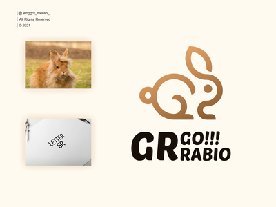 GO RABIO logo design rabbits rabbit symbol icon design logo vector creative logotype business modern abstract graphic letter line concept identity wordmark line art elegant