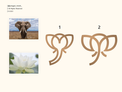 ELEPHAN FLOWER LOGO DESIGNS inspirations awesome element silhouette graphic art isolated sign traditional pattern animal background symbol icon flower illustration vector logo design elephant
