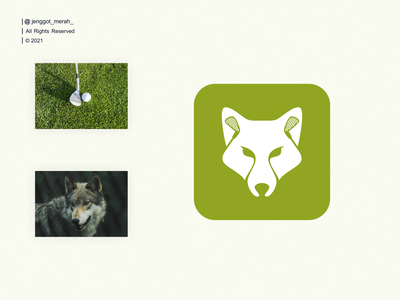 wolf golf logo design branding negative space sports vector wolf illustrations animal sport double meaning dual meaning golf illustration brandidentity inspiration brand identity inspirations awesome design logo