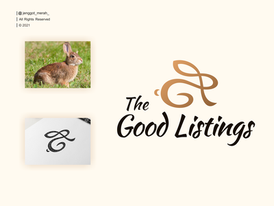 the good listings logo rabbit bunny elegant line art wordmark identity concept line graphic abstract modern business creative vector logo design icon symbol lineart clothing
