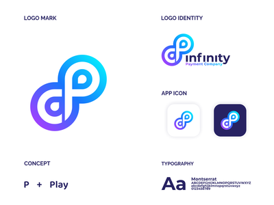 infinity CP logo design design ux ui technology tech company payment infinity identity illustration business abstract modern vector jenggot merah design symbol logo icon letter