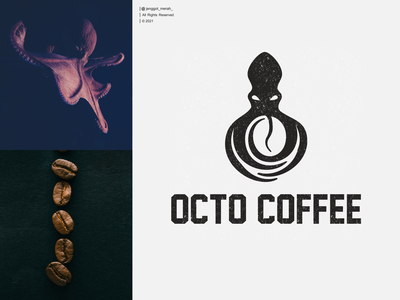 octo coffee logo design pinterest instagram dribbble symbol restaurant brand identity jenggot merah vector graphic inspirations dual meaning logo awesome octopus coffee duoble meaning negative space dual meaning design illustration logo
