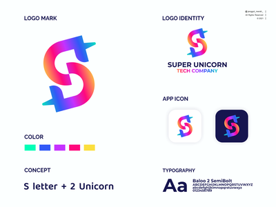 super unicorn logo design color super awesome duoble meaning inspirations s unicorn letter icon logo symbol design vector modern abstract business identity company technology jenggot merah