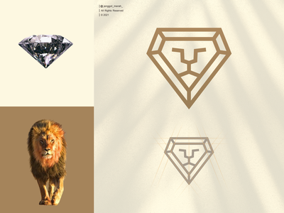 diamond lion logo design jenggot merah design royal strength emblem finance premium face animal icon power head business king lion logo diamond vector symbol luxury