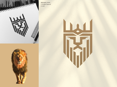 lion line art logo design line art logo lion head lion king lions vector lion logo crown sketch brand identity inspirations awesome head animal king jenggot merah logo design line art lion