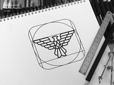 pheonix logo design sketch behance dribbble jenggot merah art flying concept creative abstract icon emblem graphic illustration element vector design symbol phoenix logo bird