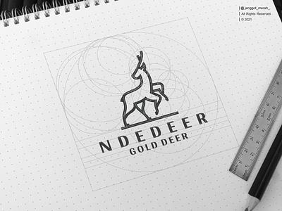 ndedeer gold deer logo design pinterest behance dribbble grid jenggot merah line art art element icon isolated animal graphic sign vector design illustration gold logo symbol deer