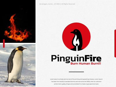 penguin fire logo for sale dribbble pinterest behance icon vector silhouette brand identity animal burn negative space combination dual meaning fire penguin for sale jenggot merah inspirations awesome design logo