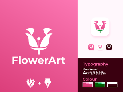 Flower Art Logo Design identity inspirations awesome design logo maker logos logo designs logo flower photography flower flowers arts artwork artist art pencil sketch pencil art pencil drawing pen pencil