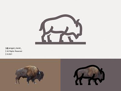 Bison Line Art Logo Design vector symbol wild lineart line art icon emblem modern animal mascot bison bull bufalo nature brand identity logo design branding illustration inspirations awesome