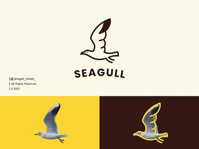 Seagull Line Art logo idea. sea bird sea logo design awesome inspiration inspirations uiillustration branding seagull bird animal minimal monoline wings symbol monogram lineart line art brand identity