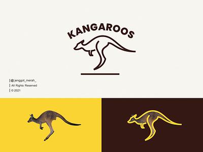 Kangaroo Line Art logo idea. mark line brand identity symbol monoline lineart line art animal australia kangaroo branding illustration inspiration brand identity inspirations awesome design logo