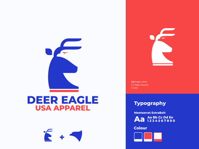 Deer and Eagle logo idea. falcon inspirations awesome double meaning dual meaning usa bird stag mark symbol horn vector wild gazelle hidden meaning negative space eagle branding animal deer