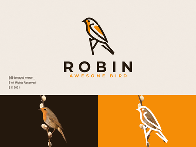 Robin Bird Line Art logo Idea simple swallow sparrow icon animals lines mark symbol illustration animal wings nest line art monoline inspirations awesome design logo robin bird