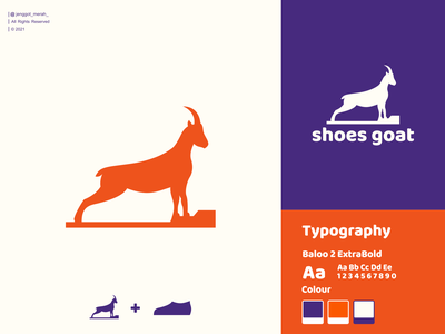 Shoes Goat Logo Design sheep mountain goat shoes goat animal combinations double meaning negative space mark vector mascot icon branding illustration identity brand inspirations awesome design logo