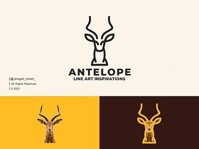 Antelope Line Art logo Idea line art animal for sale stag deer vector wild symbol mark antelope gazelle horn branding brand identity inspirations awesome design logo