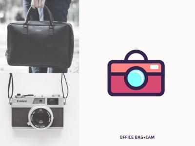 Office Bag & Cam logo idea.