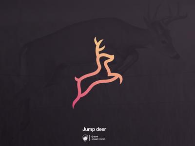 Jump Deer logo design