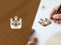 King camera logo design