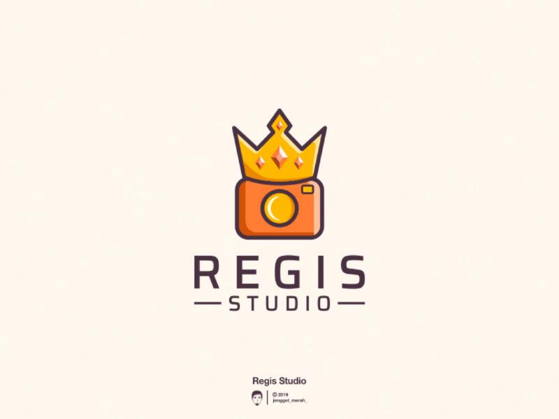 Regis studio logo design camera king brandidentity brand awesome inspirations designs design logo