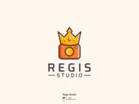 Regis studio logo design