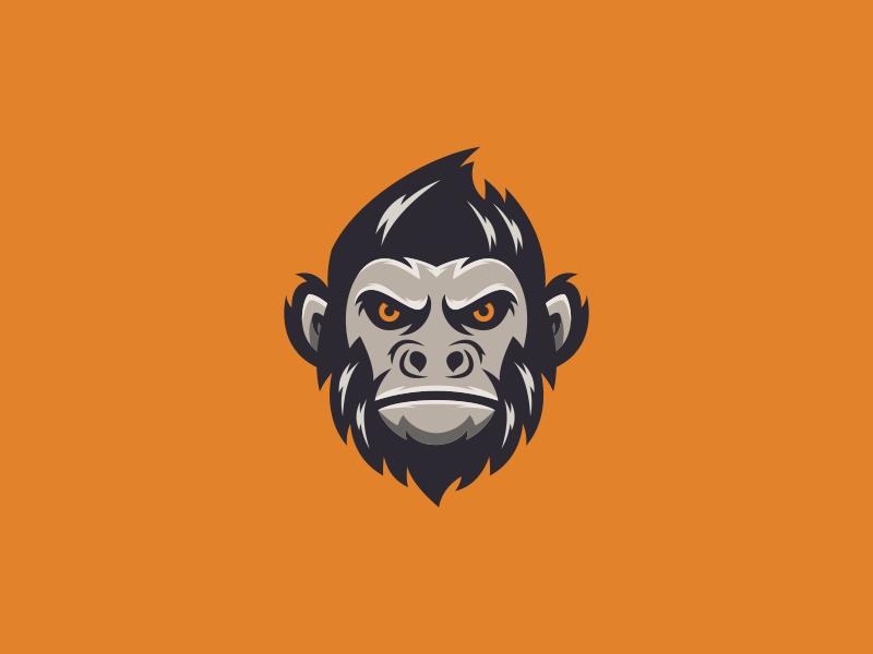 Monkey logo design nice brand identity esport monkey art forsale inspiration brandidentity identity brand inspirations awesome design logo