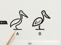 Pelican Line Art Logo Design