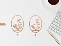Duck Line Art Logo Design