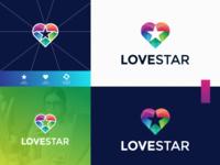 LOVE STAR logo design
