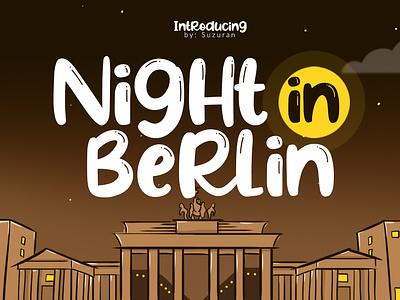 Night In Berlin Font branding graphic design bold ttf otf night typeface script font