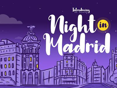 Night In Madrid Font bold script font script typography stylish simple natural minimalist luxury logo illustration font feminime fashion exclusive elegant classic casual business branding