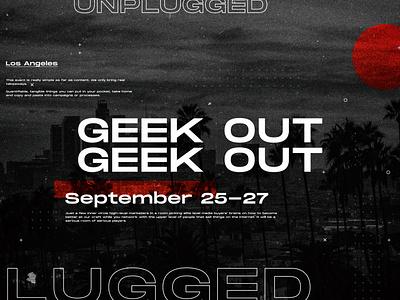 GeekOut poster poster a day photoshop logo branding web dribbble design shot design art poster design poster art poster typography