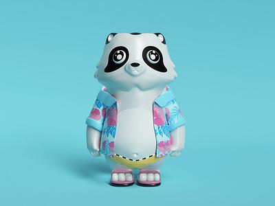 MesoZoo Wars  ⸺ Raccoon app cinema4d render 3d ui shot web dribbble character animation characters character design characterdesign character