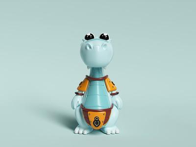 MesoZoo Wars  ⸺ Brachiosaurus ux illustration ui 3d render cute toy modeling cinema4d octane otoy characterdesign characters design charactersdesign character design characters character