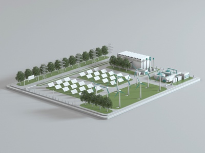 Natural Gas Power Plant Octane shot dribbble design 3d otoy octanerender octane cinema4d render