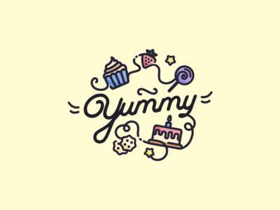 "Logo for bakery ""Yummy"""