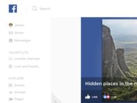 Facebook Redesign Light / Desktop