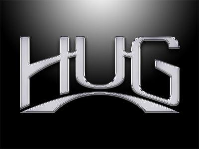 Hug Logo- Car Dealership logo identity branding hand-lettered type hand drawn type custom type