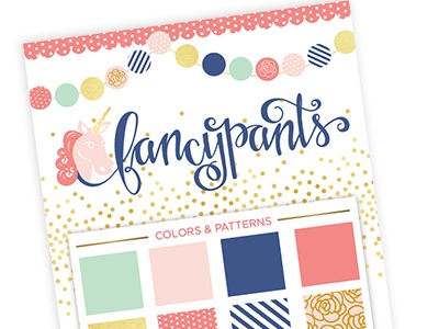 Fancypants Identity identity branding logo handlettering hand drawn type illustration patterns boutique